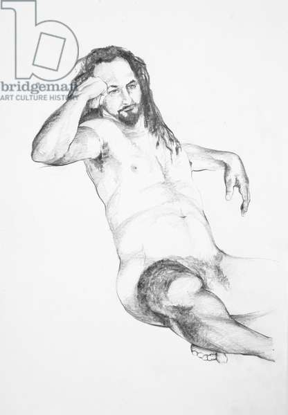 Male Nude, 2013, (pencil on paper)