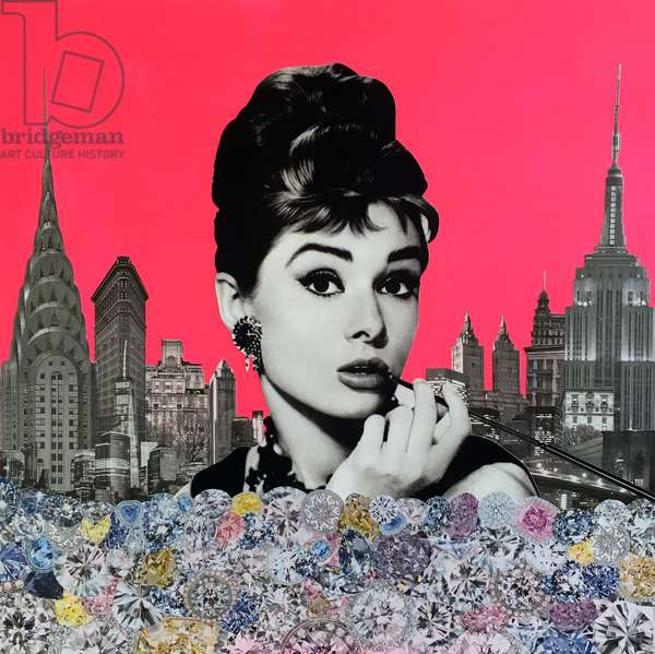 Audrey Hepburn, 2015, (mixed media)