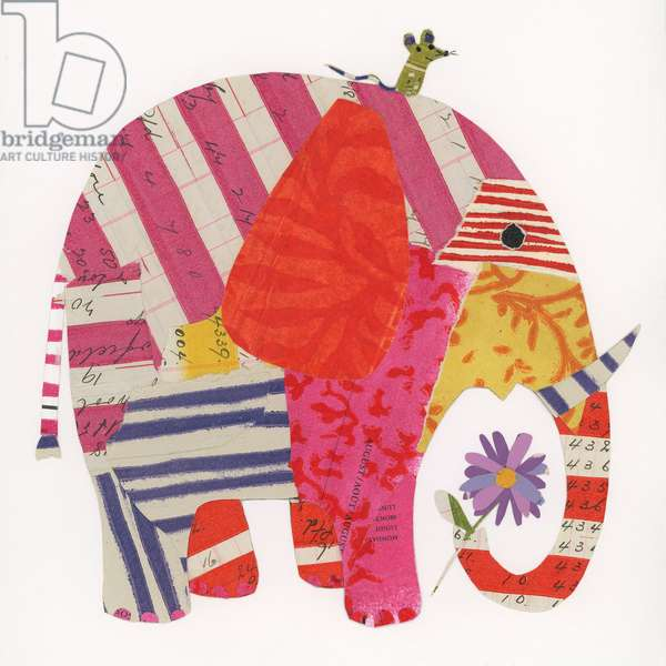 Big Elephant,Little Mouse, 2014,collage