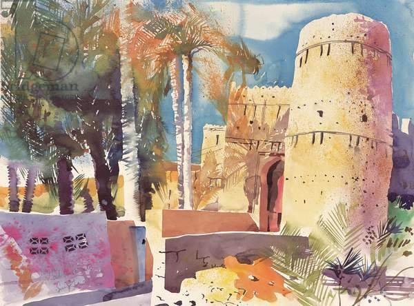 Nizwa Oman, Old south gate, 2005 (watercolour)