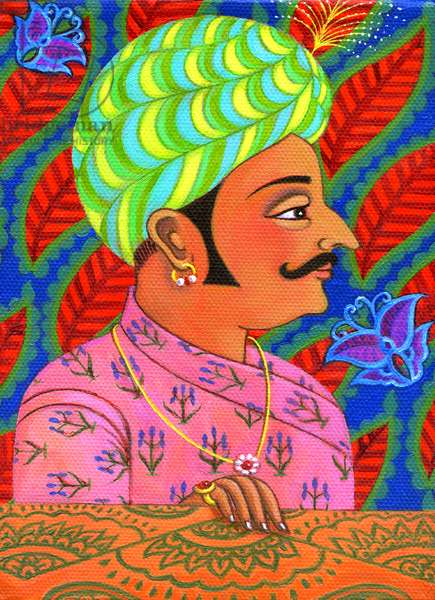 Maharaja with butterflies, 2011, (oil on canvas)