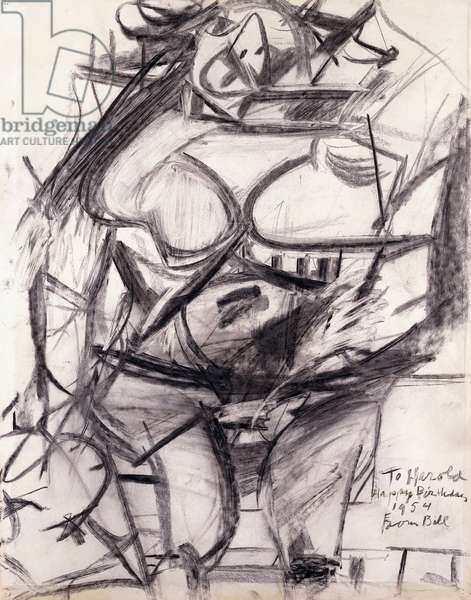 Monumental Woman, 1953 (charcoal on paper)