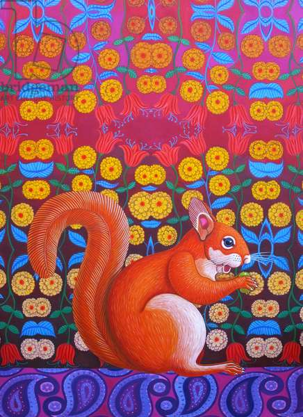 Red Squirrel, 2014, (oil on canvas)