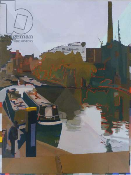 Hackney to Islington, (oil on panel)