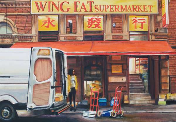 Wing Fat, 2018, (oil on silk)