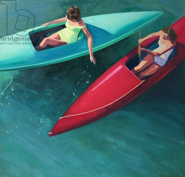 Colorful Kayaks, 2018, (oil on canvas)