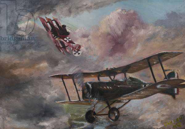 Dogfight 1917, 1995,  (acrylic on canvas board)