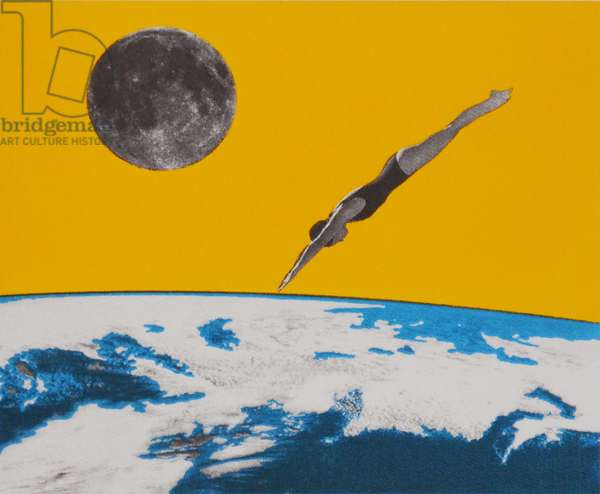 The space dive, 2016, (screen print)