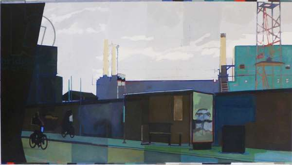 Tartan Battersea, 2013 (oil on canvas)
