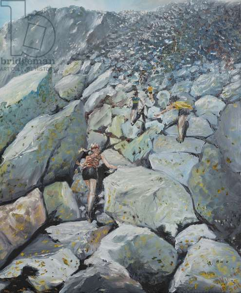 Uphill Fell race, 2013, (oil on canvas)