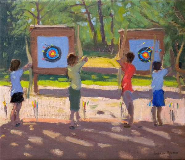 Young Archers, 2012 (oil on canvas)