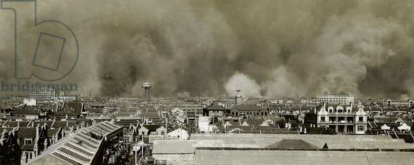 China: Shanghai in flames - the Battle of Shanghai, 1937.
