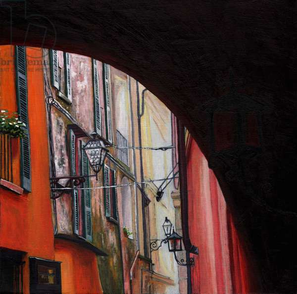 Menaggio lanterns, 2012, (oil on canvas)