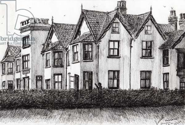 Dimbola Lodge I.O.W., 2009, (ink on paper)