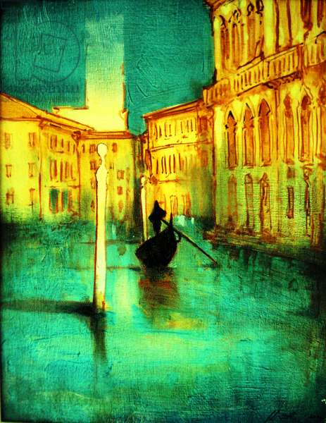 The soloist and quiet Gondolier, 2004 ( Venice )