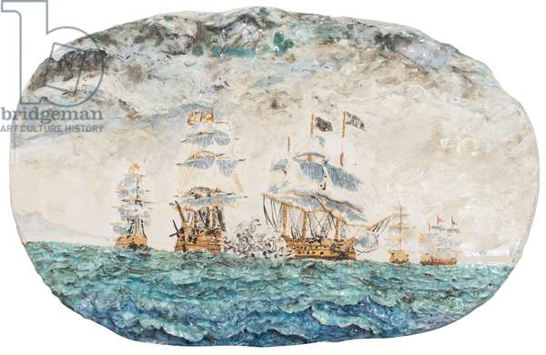 Battle of Trafalgar 1805, 1998, (glazed porcelain ceramic)