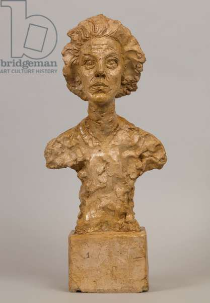 Bust of Annette VII, 1962 (plaster)