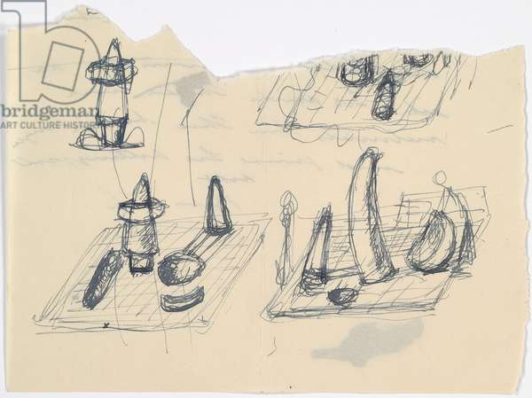 Projects for a square, c.1930 (pen & ink on letter paper)