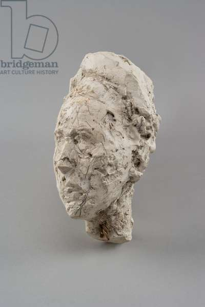 Head of Simone de Beauvoir, c.1946 (plaster reworked with pocket knife & enhanced with pencil) (see also 478122)