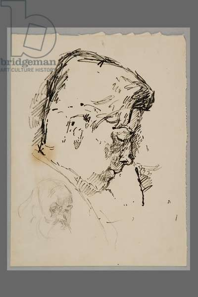 Diego in Profile after Cézanne: 'Self portrait', c.1920 (pen & ink with pencil on paper)