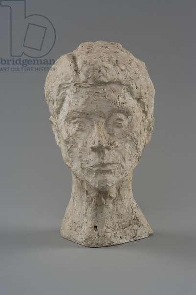 Tête de femme [Rita], c.1938 (plaster cast with sprinklings of fresh plaster) (see also 861068)