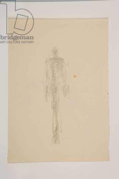 Walking Man Face On (recto), 1951 (pencil on paper)