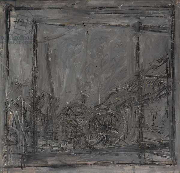 Dark Landscape, Stampa, Switzerland, 1952 (oil on canvas)
