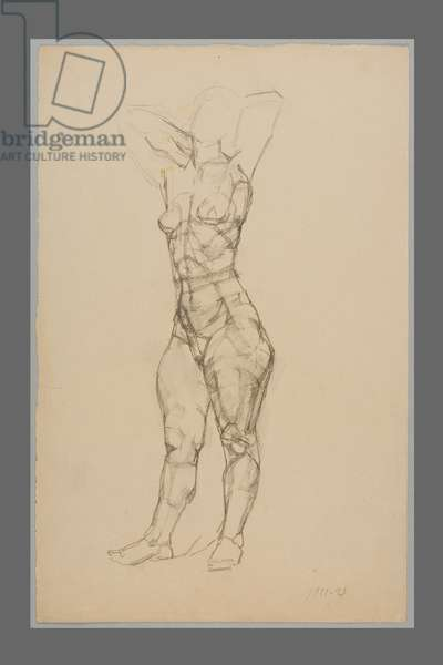 Standing Nude, 1922-23 (pencil on paper)
