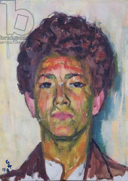 Alberto Giacometti, 1918 (oil on canvas)