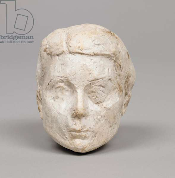 Head of Woman [Rita], 1938 (plaster reworked with pocket knife) (see also 861069)