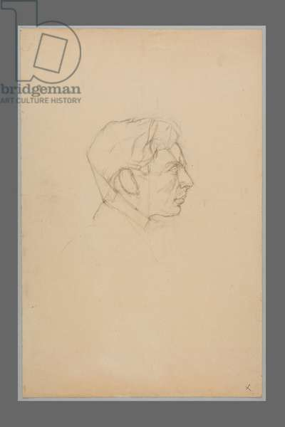 Head of a Young Man in Profile, c.1923 (pencil on paper)