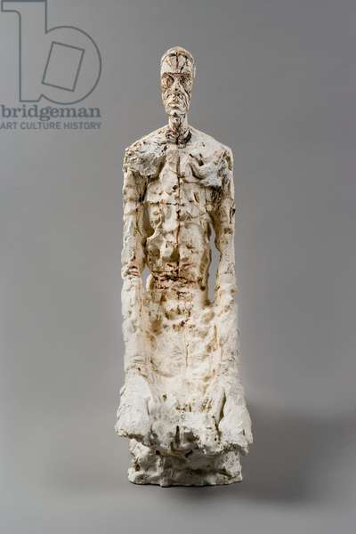 Half-length of a Man, 1965 (plaster reworked with pocket knife and painted)