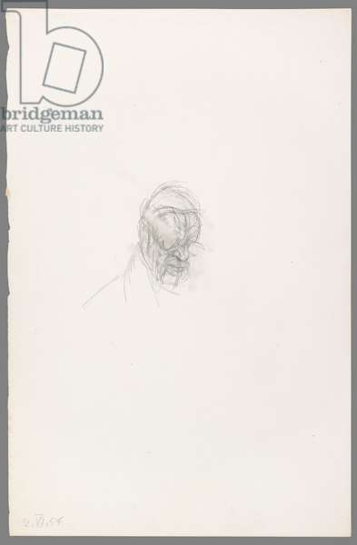 Head of Henri Matisse, 2 July 1954 (pencil on paper)