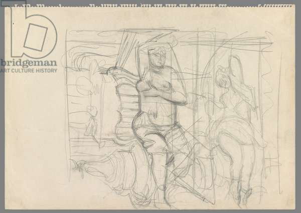 After Matisse: Odalisque, c.1951-53 (pencil on paper)