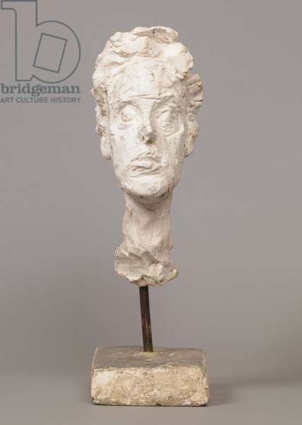 [Head of Annette on a Rod], 1961 (plaster)