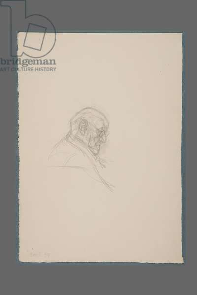 Bust of Henri Matisse in Profile, 1954 (pencil on paper)