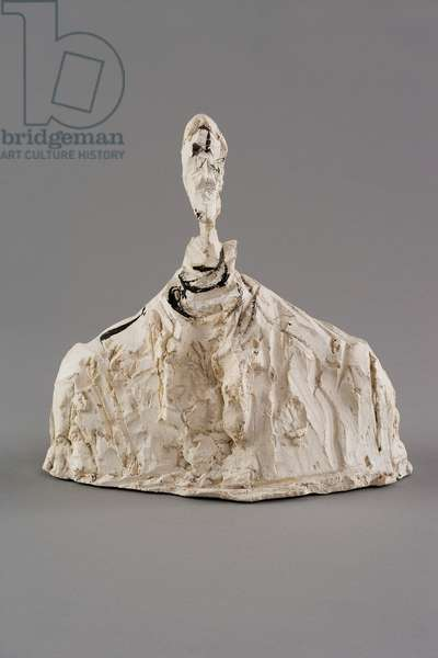 Small Bust of a Man, c.1950 (plaster reworked with pocket knife & painted)
