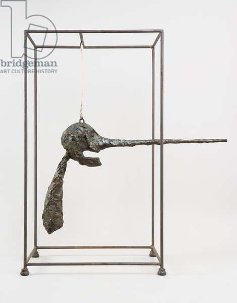 The Nose, 1947 (bronze, painted metal & cotton rope)