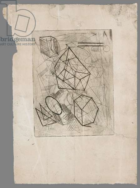 Polyhedron, c.1933-34 (engraving on wove paper)