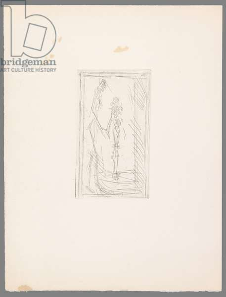 Standing Nude Woman and Nude Woman in Profile (etching)