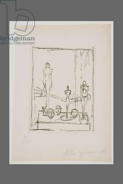Sculptures in the Studio, 1949-50 (etching)