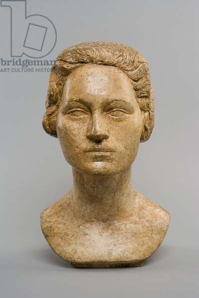 [Head of Ottilia], c.1925 (plaster and remnants of polychromy)