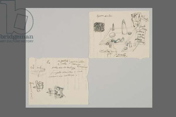 Two pages of drawings, c.1930 (pen & ink on paper)