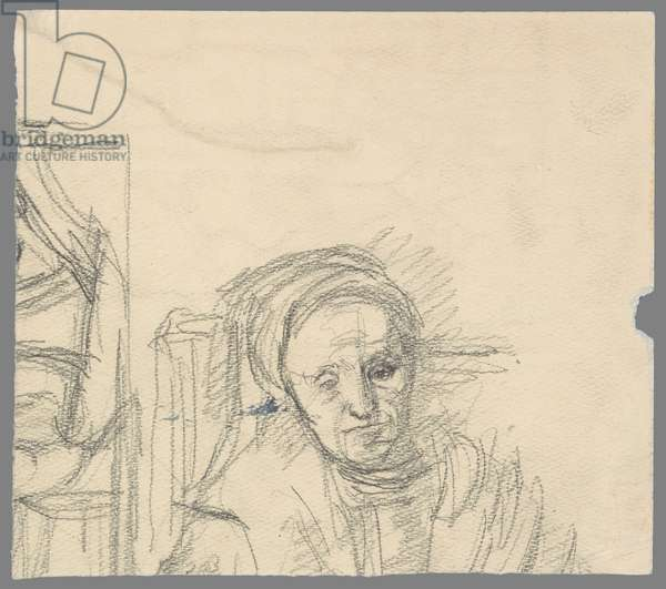 After Rembrandt: The Mother and Danae, c.1942 (pencil on paper)