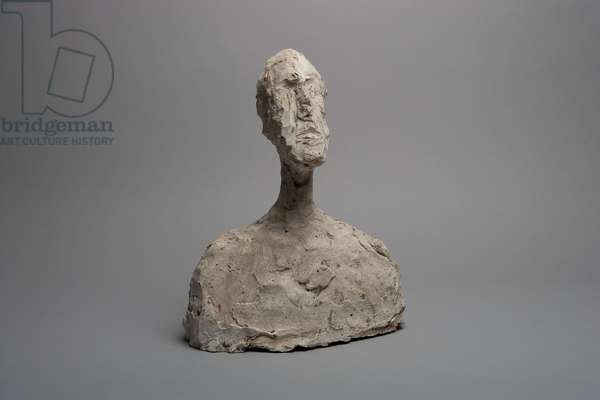 Bust of a Man, or Head, c.1958 (plaster)
