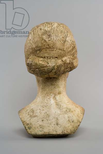 [Head of Ottilia] (rear), c.1925 (plaster and remnants of polychromy)
