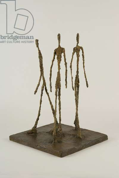 Three Men Walking [Small Base], 1948 (bronze)