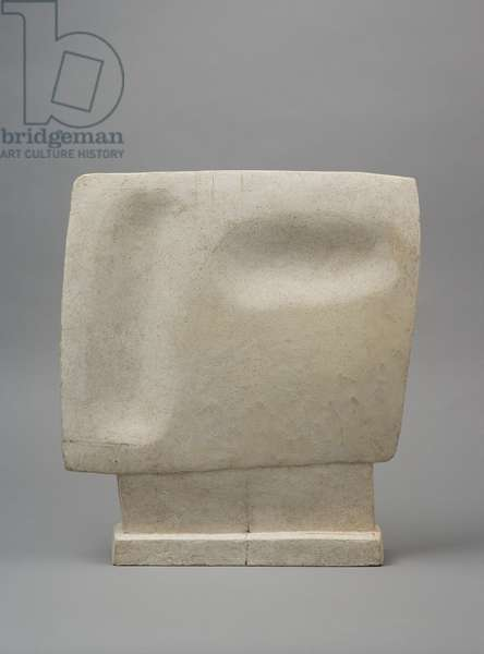Head looking, 1929 (plaster & pencil marks)