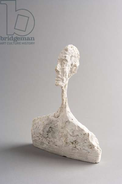 """[Bust of a Man (for """"The Forest"""")], c.1950 (plaster)"""