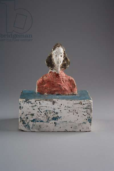 [Small Bust of Annette], c.1946 (painted plaster)